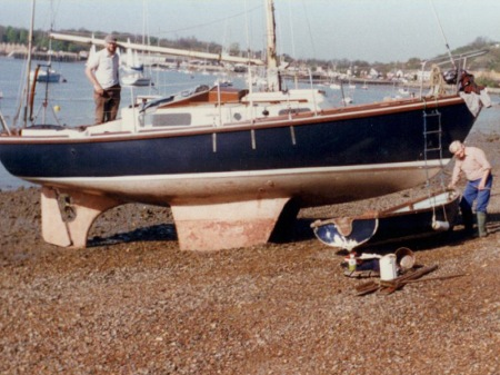 Macwester 27: Capella, Upnor, River Medway, 1980s. Photo: Bill Sheperd