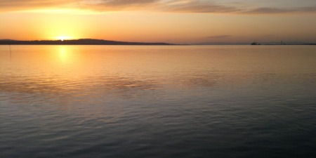 Sunset on the River Forth, Scotland