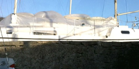 Macwester Malin with tarpaulin cover for the winter