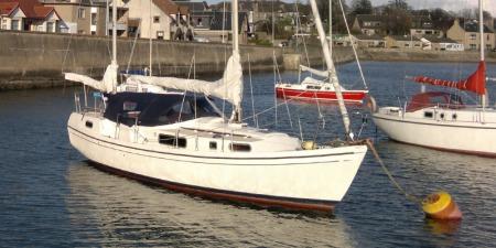 Macwester Malin 32 with Hippo mooring buoy