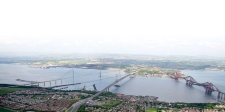 Forth Replacement Crossing Artist's Impression [aerial]