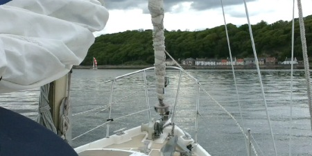 Macwester Malin sails down