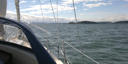 Approaching Inchcolm