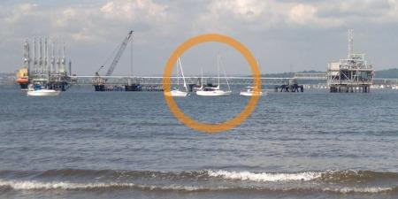 Anchored at Peatdraught Bay