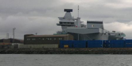 HMS Queen Elizabeth bow