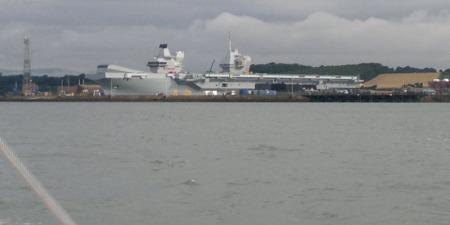 HMS Queen Elizabeth Disney look-a-like