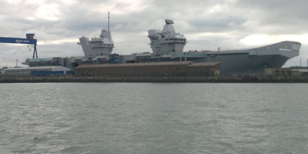HMS Queen Elizabeth floats