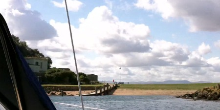 Approaching Inchcolm (video grab)
