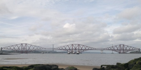 Peatdraught Bay and Forth bridges