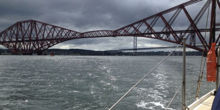 Leaving the Forth Bridge
