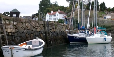 Leaving Aberdour harbour