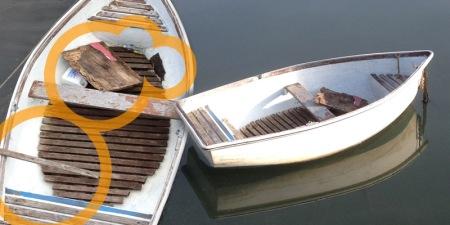 Vandalised dinghy