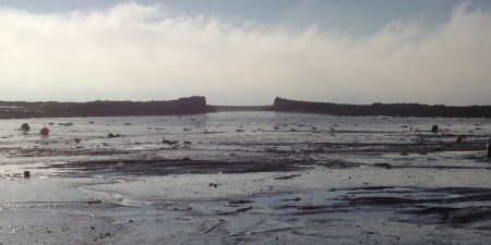 Misty Ghauts at low tide